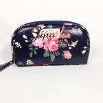 กระเป๋าสตางค์ Chalita wu สีดำ ลายดอกไม้