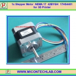 1x Stepper Motor NEMA 17 42BYGH 17HS4401 for 3D Printer