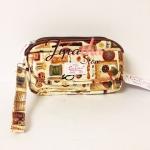 กระเป๋าคล้องมือ + สายสะพาย Chalita wu สีครีม ลายวินเทจ