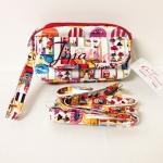 กระเป๋าคล้องมือ + สายสะพาย Chalita wu สีขาว ลายแฟชั่น