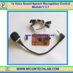 1x Voice Sound Speech Recognition Control Module V 3.1