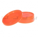 Lens Cap Nikon Body and Rear Lens Cap (สีส้ม)