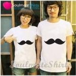 เสื้อคู่รัก ชุดคู่รัก เสื้อคู่ เสื้อคู่รักเกาหลี เสื้อยืดคู่รักพร้อมส่ง เสื้อคู่รักสวยๆ เสื้อยืดคู่รัก แขนสั้นผ้าฝ้าย ลายการ์ตูนหนวดแนวๆ