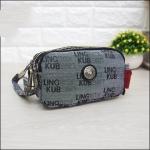 กระเป๋าคล้องมือ Lingky ผ้าทอ สีเทา