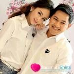 เสื้อคู่ เสื้อคู่รัก ชุดคู่รัก เสื้อคู่รักเกาหลี เสื้อผ้าแฟชั่น เชิ้ตขาวใจแดง #Hot ฝุดๆ มีไว้รับรองคุ้มคะ งาน AAA มีป้าย Tagแขวน ถุงซีนสกรีน PLAY Size S,M,L,XL