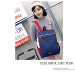 กระเป๋าเป้ Pocket Flap style สีน้ำเงินแดง