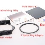 P Series ND set 1 (Gradual ND4 + ND8 + Holder + Ring)