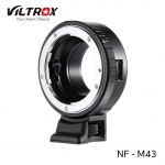 Viltrox NF-M4/3 Mount Adapter Ring for Nikon G/F/AI/S/D Type Lens to M4/3 Mount Camera