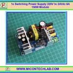1x SWPS 220V to 24Vdc 6A 150W Switching Power Supply Module