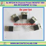 5x IRFZ44 Power MOSFET 55V 49A 94W N-Channel IRFZ44NPBF IC Chip
