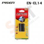 Battery PISEN EN-EL14 for D5100/D3200/D3100/P7100 สำเนา