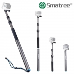"Smatree Remote Pole S3C ไม้ Selfie Carbon สำหรับ GoPro พร้อมก้านรอยน้ำ (14""-40"") สำเนา"