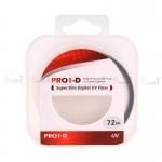 JYC Pro 1 D Super Slim UV fiter 72mm