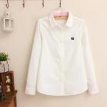 Pre-Order เสื้อเชิ้ตแขนยาว สีขาว (ไซส์ S,M,L,XL)
