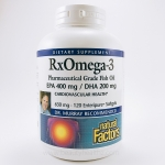 Natural Factors, RxOmega-3 Factors, EPA 400 mg / DHA 200 mg, 120 Softgels