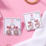เลือกลายด้านในค่ะ ต่างหูเกาหลี ก้านเงินแท้ 925 Romantic Jewel Korea ER124