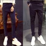 PRE-ORDER กางเกงขายาวแฟชั่นใหม่ กางเกงขายาวเข้ารูปจั๊มขา ออกแบบทรงแนวๆ