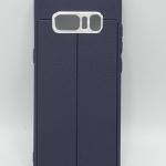 Case Samsung Note 8 สีน้ำเงิน ลายหนัง