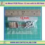 4x เสารองแบบเหลี่ยม 12 มม. 8x สกรู M3 (Pillars 12 mm)