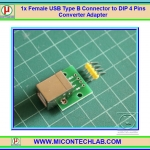 1x Female USB Type B Connector to DIP 4 Pins Adapter