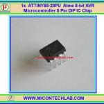 1x ATTINY85-20PU Atmel AVR Microcontroller 8 Pins DIP ATTINY IC Chip