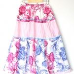"""Floral Maxi Skirt (Waist 26""""-40"""")"""
