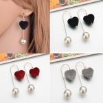 ต่างหู ต่างหูหัวใจ ต่างหูแฟชั่น Velvet Heart ER8541