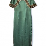 "Vintage Green Chinese Qipao (Bust 35"")"