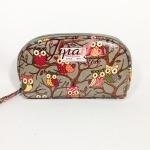 กระเป๋าสตางค์ Chalita wu สีเทา ลายนกฮูก