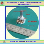 1x Volume VR 10 Kohm (20mm) Potentiometer Variable Resistor