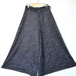 Vintage Maxi Skirt - Polka Dot (Waist: 26)