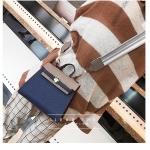กระเป๋าถือ + สะพายข้าง HERMES mini style น้ำเงิน-ครีม