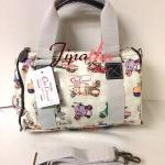 กระเป๋าทรงหมอน Chalita wu + สายสะพาย สีขาว ลายรถเวสป้า