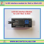 1x I2C interface module for 16x2 or 20x4 LCD