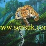 เสือในป่าธรรมชาติ(ขายแล้วสั่งวาดใหม่ได้)