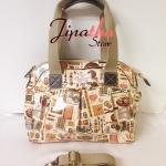 กระเป๋า Chalita wu + สายสะพาย ลายวินเทจ