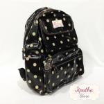 กระเป๋าเป้ Chalita wu สีดำ ลายจุด