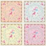 ผ้าพันคอลาย Sweet blossoms