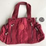 กระเป๋าถือ + สะพายไหล่ สีเลือดหมู