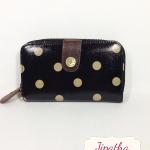 กระเป๋าสตางค์ Chalita wu สีดำ ลายจุด