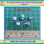 5x Variable Resistor VR 10 Kohm Potentiometer Resistor