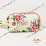 กระเป๋าคล้องมือ Chalita wu สีเหลือง ลายดอกไม้