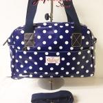 กระเป๋าถือ+สะพาย Chalita wu สีน้ำเงิน ลายจุด