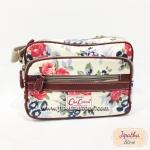 กระเป๋าสะพาย Chalita wu ใบเล็ก สีครีม ลายดอกไม้