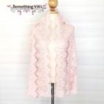 ผ้าพันคอ/ผ้าคลุมไหล่/ผ้าคลุมให้นม รุ่น Delicated French Lace in Rose Claire (Size M) ผ้าคลุมไหล่ ผ้าพันคอ ลายน่ารัก สีชมพูพาสเทลสวยงาม ตอนรับลมหนาวอ่อนๆ อาจจะไม่อุ่นมากแต่ก็ช่วยให้อุ่นในระดับหนึ่ง เพื่อความสวยงามมากกว่า ใช้ในงานมงคลต่างๆ ได้ เป็นของชำร่วย