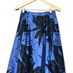"Floral blue-black skirt (Waist 26-27"")"