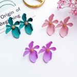 ต่างหูเกาหลี ต่างหู Orchid Flower Korea ER9631