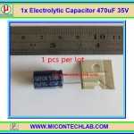 1x คาปาซิเตอร์อิเล็กทรอไลท์ 470 uF 35V (Capacitor)