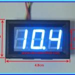 1x Digital DC Voltmeter 0-99.9 Vdc 3 Wires 0.56 Inch Module (Blue Color)