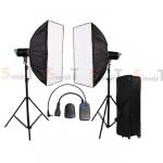 Light Set with CD 400W X2 Professional Flash SUPERFLASH Studio Kit ชุดแฟลชสตูดิโอ